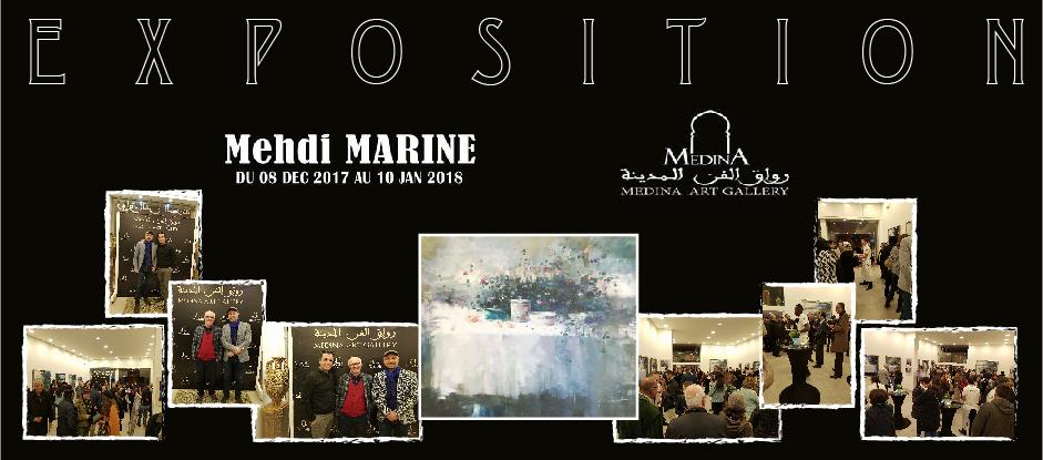 Exposition de l'artiste peintre MEHDI MARINE