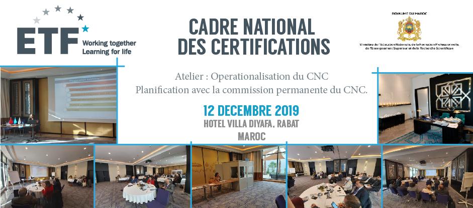 CADRE NATIONAL DES CERTIFICATIONS